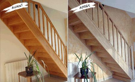 peindre un escalier en bois vernis - inspiration du blog